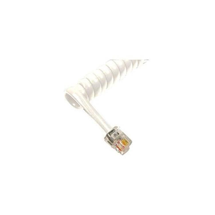 GCHA444012-FWH / 12' WHITE Handset Cord