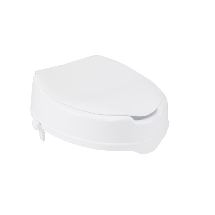 Drive Medical Raised Toilet Seat with Lock and Lid - Standard Seat