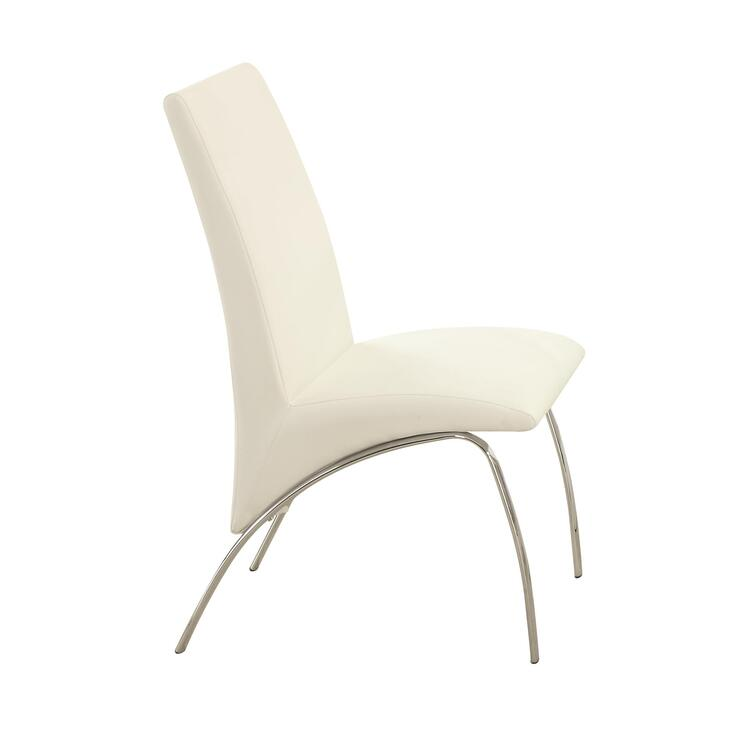 Coaster Ophelia Contemporary Vinyl and Metal Dining Chair - Set of 2