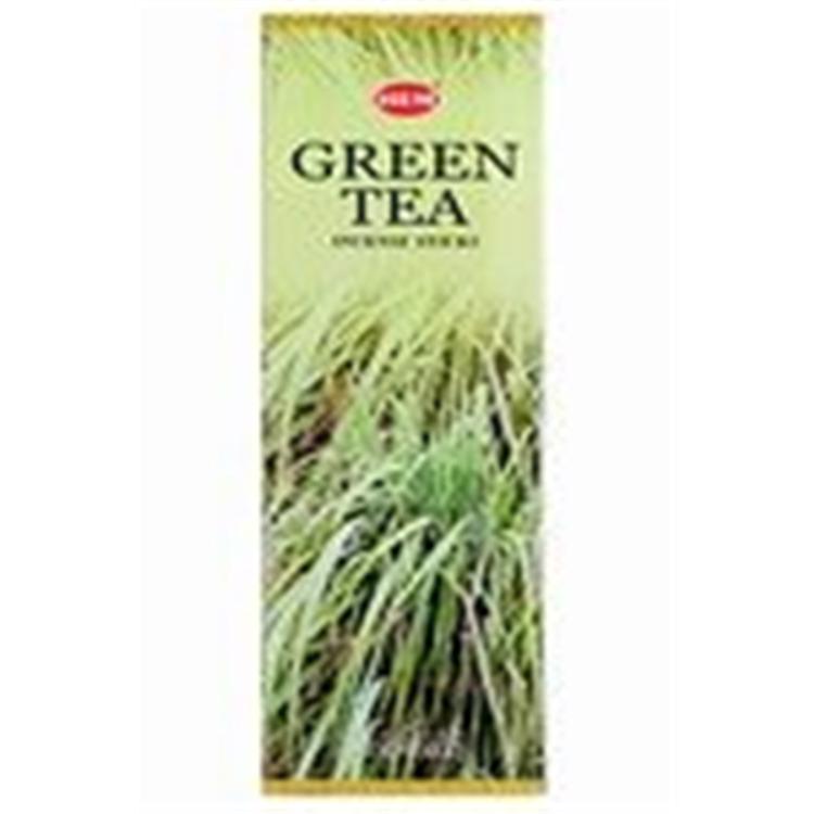 Green Tea - Box of Six 20 Gram Tubes - HEM Incense