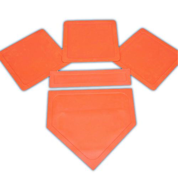 BSN Sports Orange Throw Down Bases-5 Piece