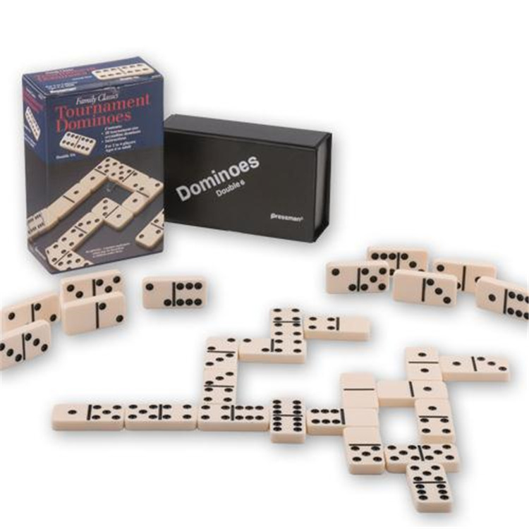Pressman Toy Deluxe Double Six Dominoes With Case