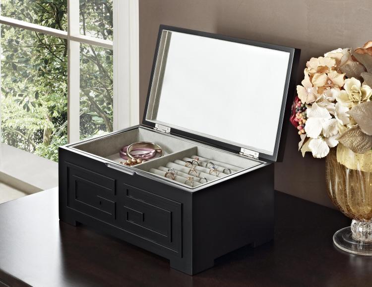 Powell Enna Black Jewelry Box