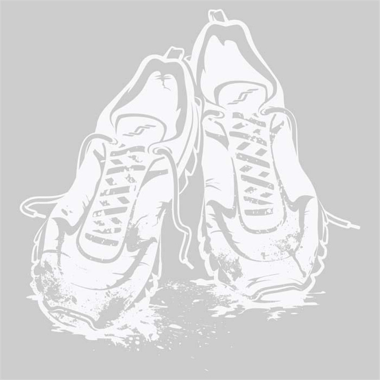 Sticker Trail Run Shoes White