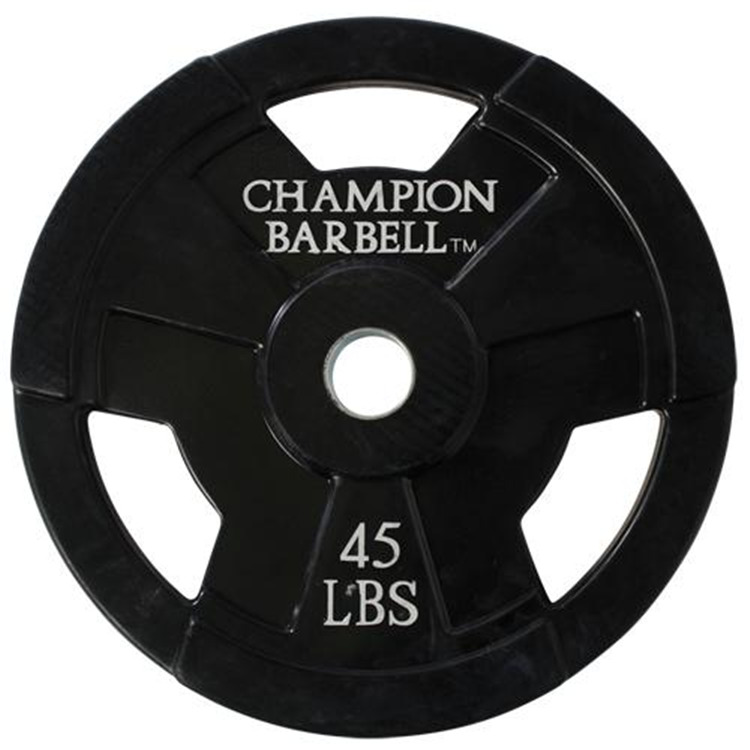 Champion 45lb. Olympic Rubber Coated Grip Plate