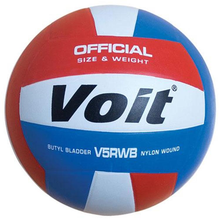 Voit V5RWB Rubber Volleyball R/W/B