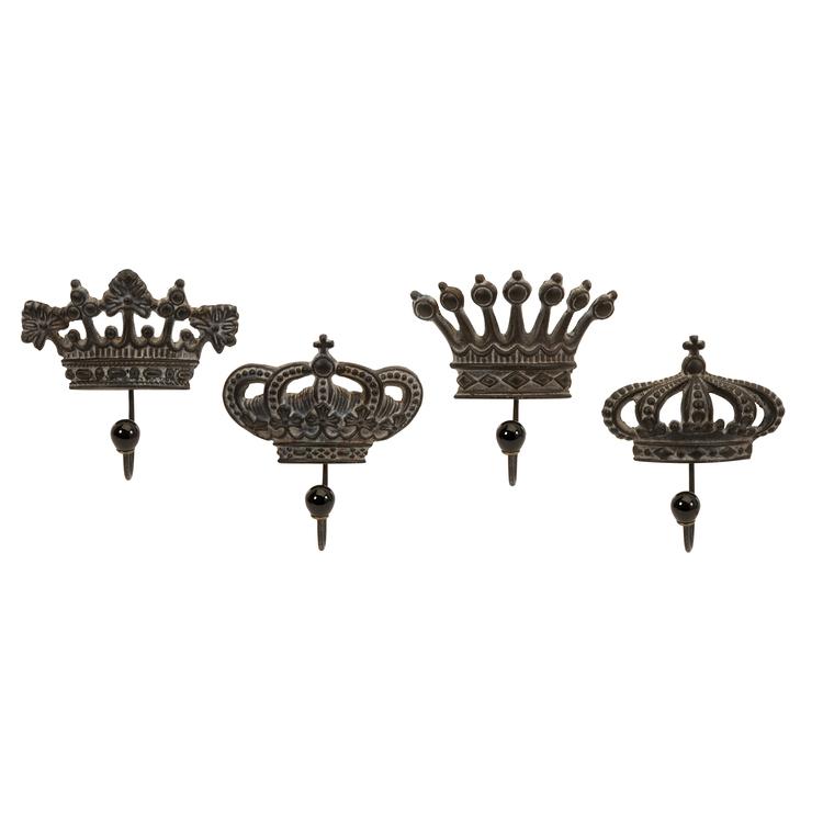 Set of 4 Regent's Crown Hooks