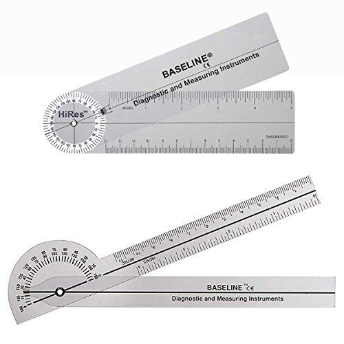 FEI FEI Baseline Plastic Goniometer - Pocket Style - HiRes 180 Degree Head - 6 inch Arms