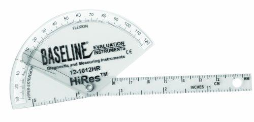 Baseline Plastic Goniometer - Finger - HiRes Flexion to Hyper-Extension