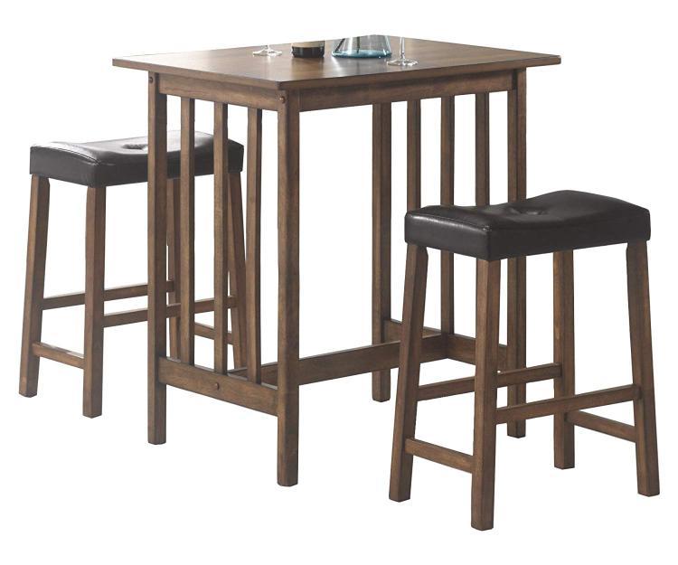 Coaster 3-piece Counter Dining Set Nut Brown