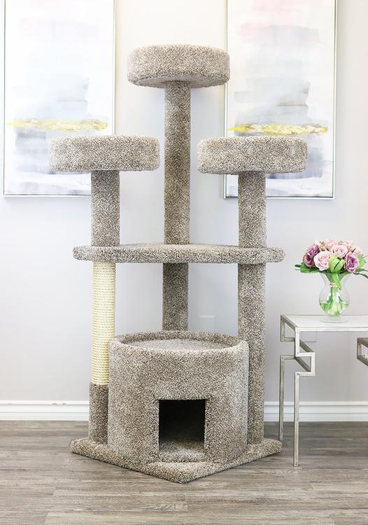 New Cat Condos Prestige Cat Trees Main Coon Cat House [Item # 130014-Neutral]
