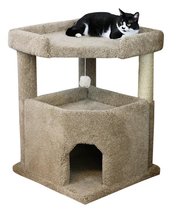 New Cat Condos Prestige Cat Trees Solid Wood Condo Mansion
