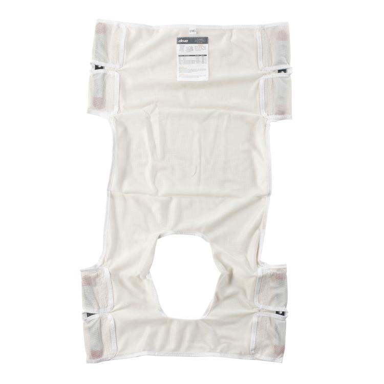 Patient Lift Sling, Polyester Mesh with Commode Cutout