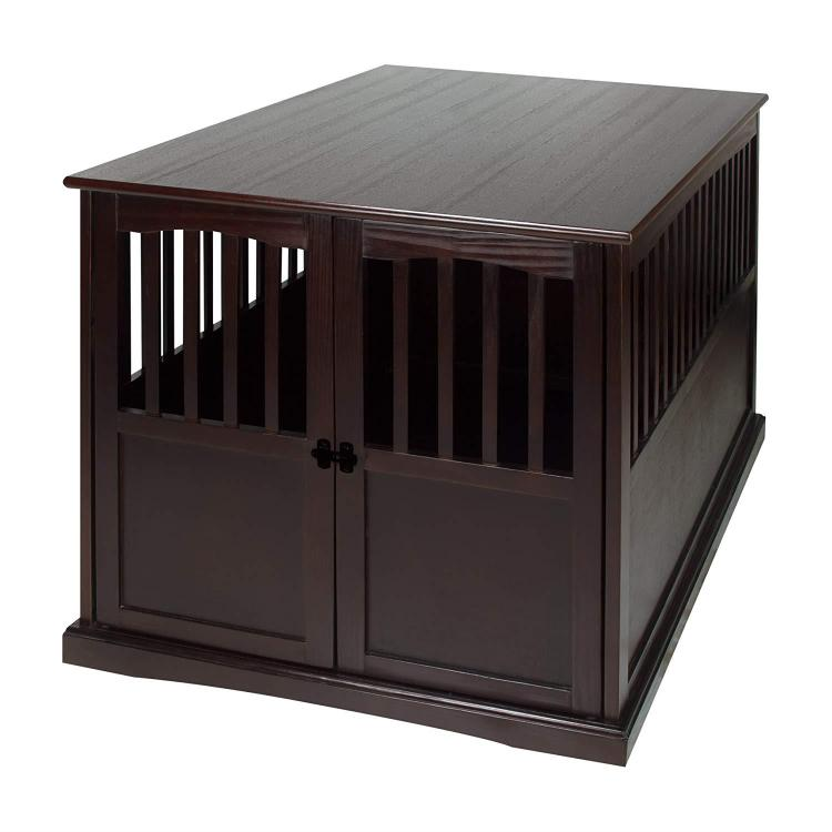 Casual Home Extra Large Pet Crate Espresso End Table