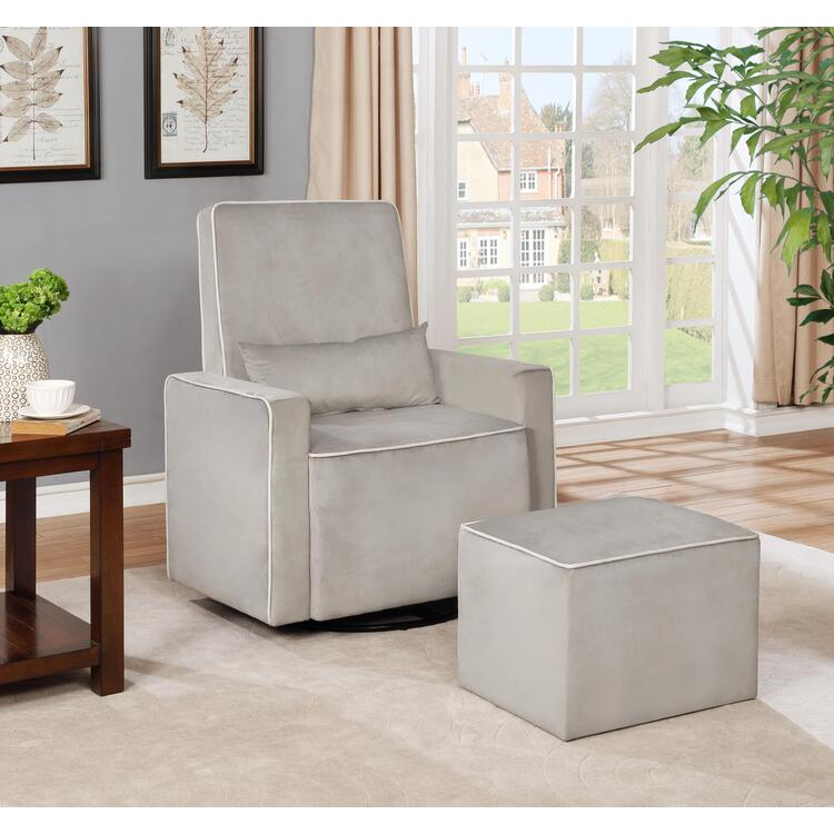 Naomi Home Lorraine Swivel Glider and Ottoman Set