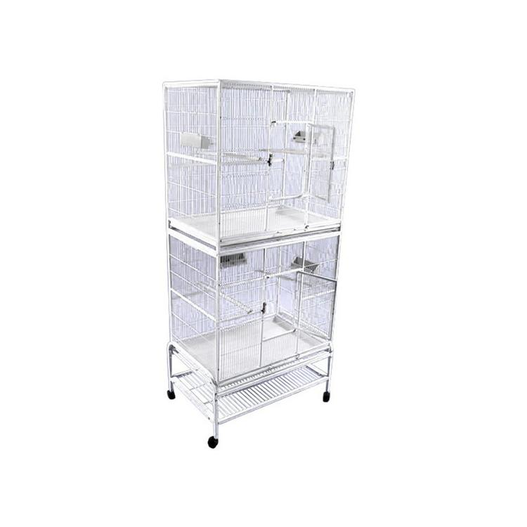 A&E Cage Co. Double Stack Flight Bird Cage Platinum