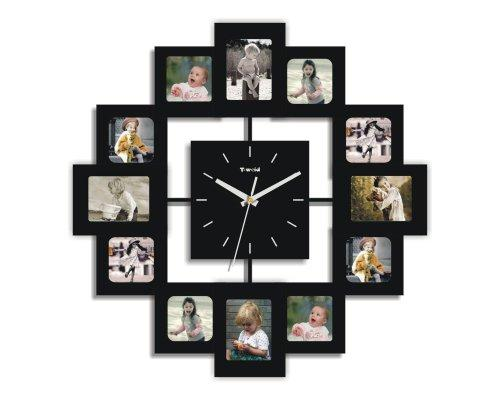 Creative Motion 12 PHOTO FRAMEs AND CLOCK [Item # 13348-2]