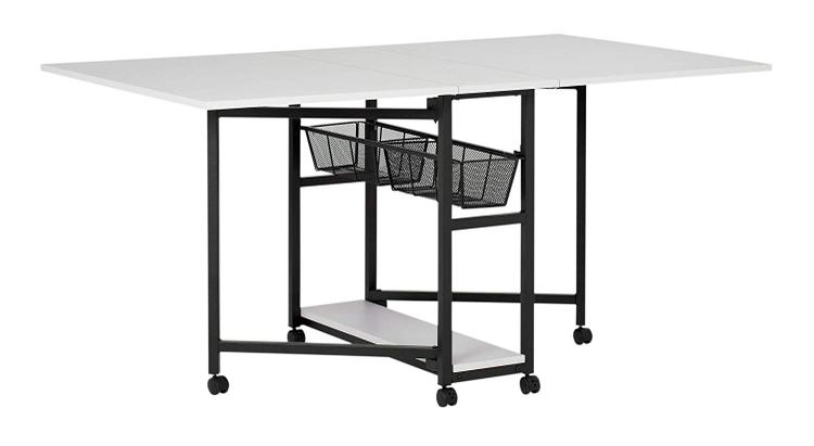 Studio Designs Sew Ready Mobile Fabric Cutting Table with Storage