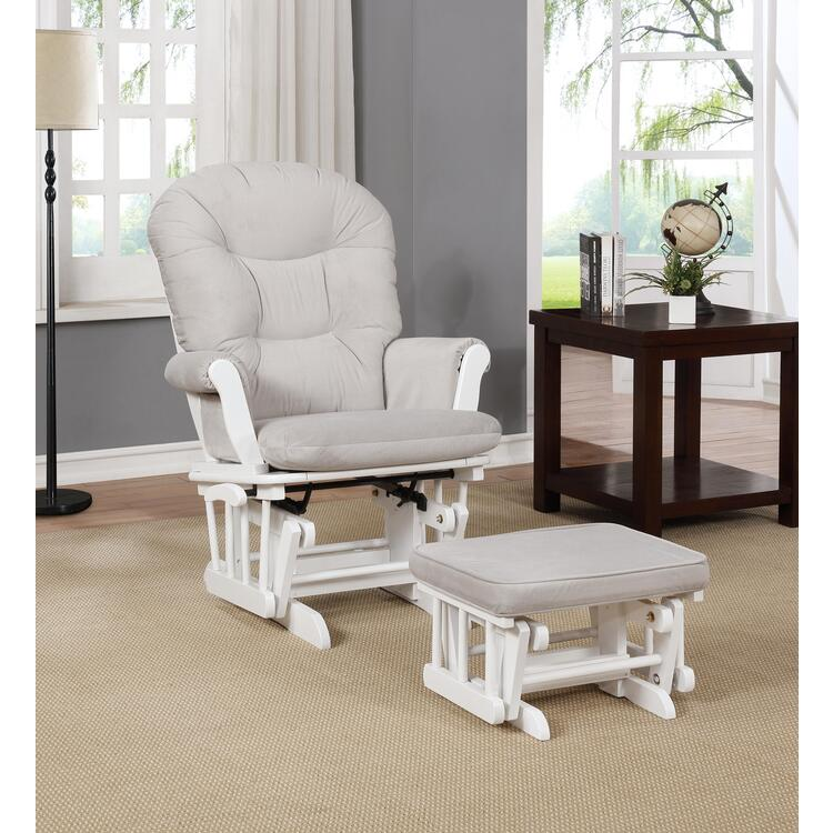 Mira Multiposition Glider and Ottoman Set