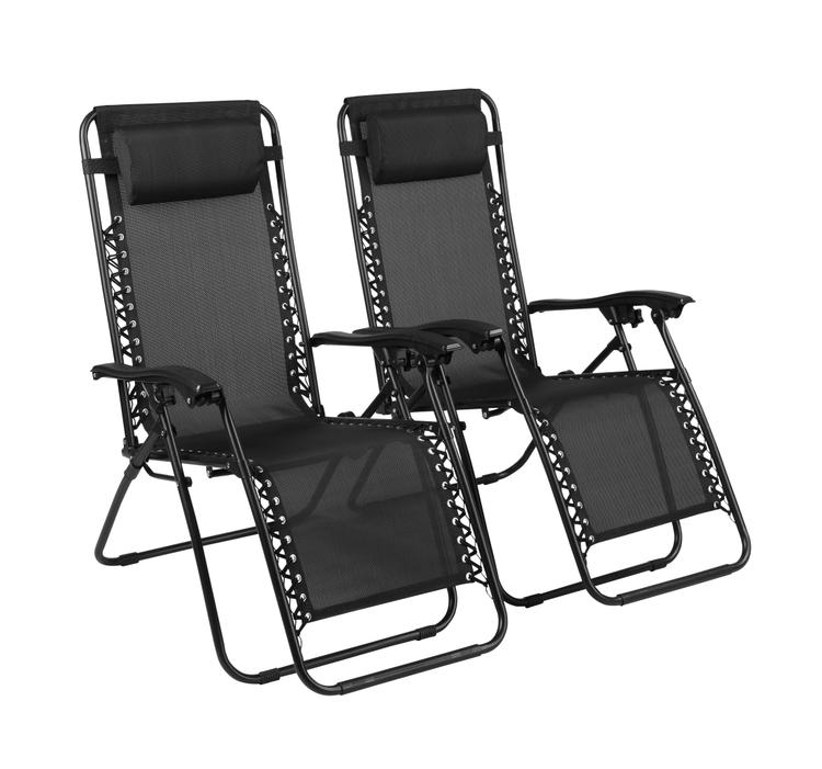 Excellent Naomi Home Zero Gravity Lounge Patio Outdoor Recliner Chairs Black Set Of 2 Unemploymentrelief Wooden Chair Designs For Living Room Unemploymentrelieforg