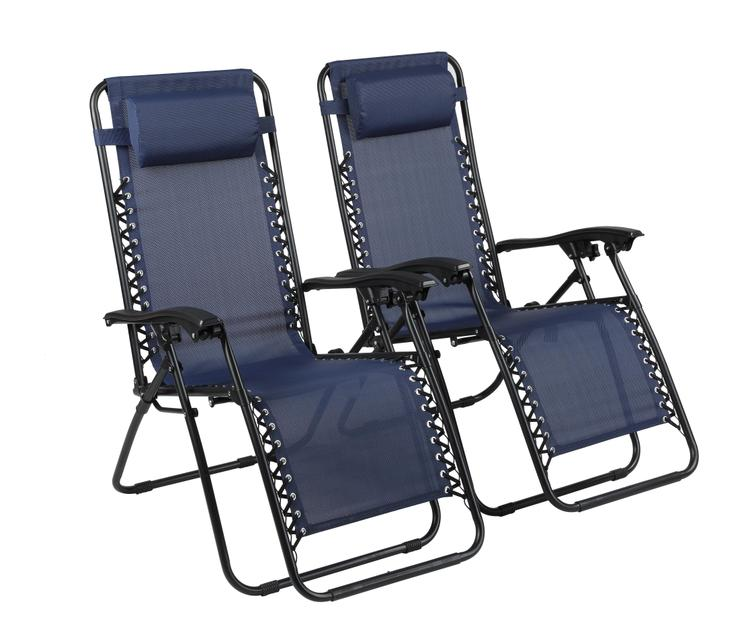 Naomi Home Zero Gravity Lounge Patio Outdoor Recliner Chairs [Item # 59542]
