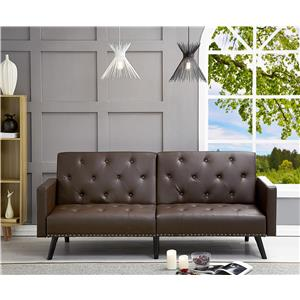 Convertible Tufted Split Back Futon Sofa | OJCommerce