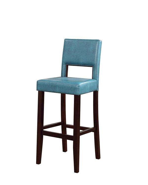 Linon Vega Bar Stool Agean Blue