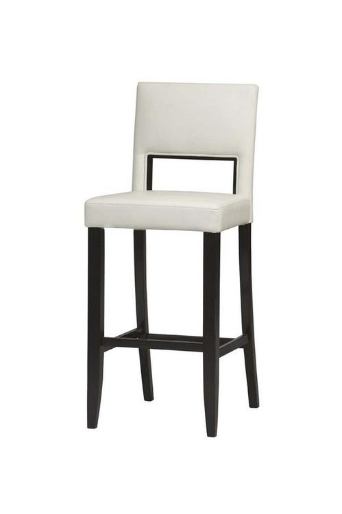 Linon Vega Bar Stool White 30