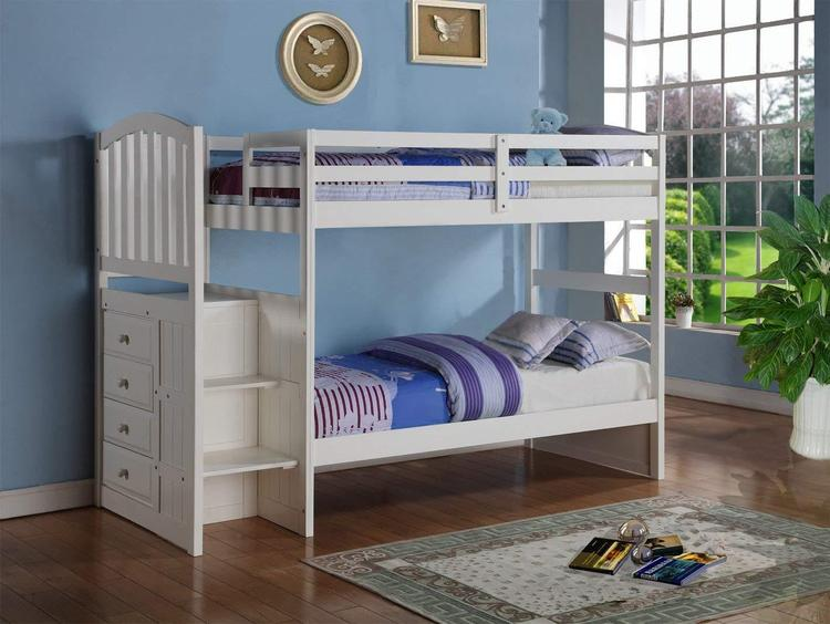 Donco Kids Arch Mission Stairway Bunk Bed