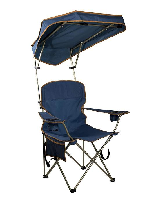 Max Shade Chair, Navy Fabric, Metallic Silver Frame