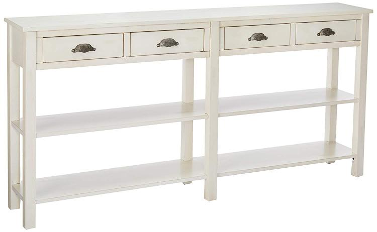Powell Crackle Console Table
