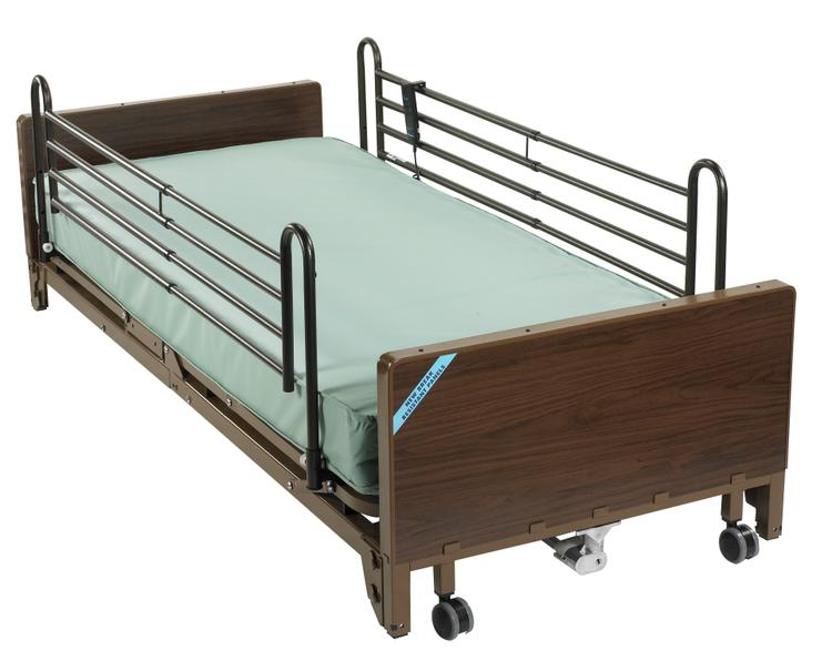 Delta Ultra Light Full Electric Low Hospital Bed with Full Rails and Innerspring Mattress