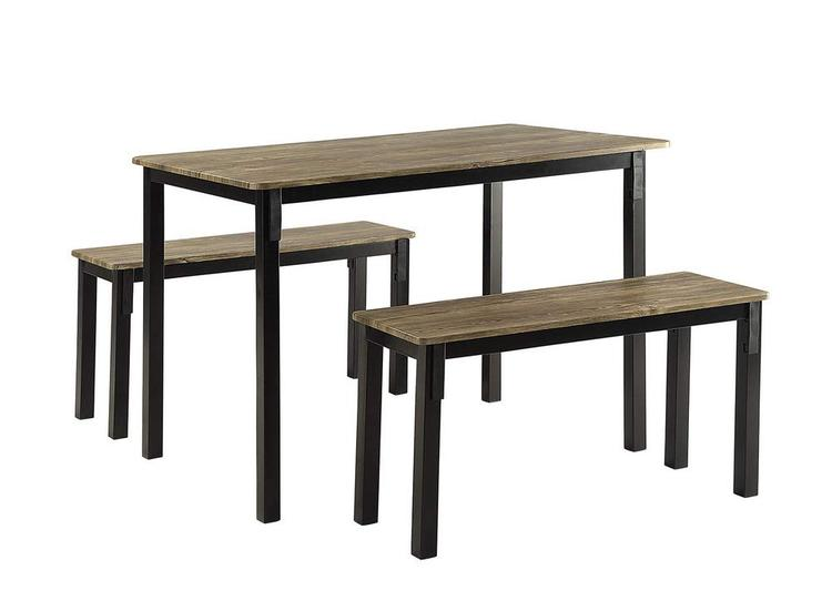 4D Concepts Boltzero Dining Table with 2 Benches