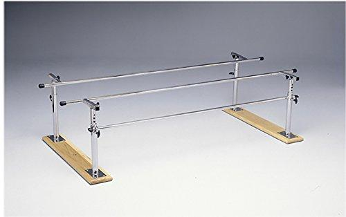 FEI FEI Folding height/width adjustable parallel bars, 7' adult, wood base