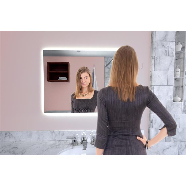 Naomi Home LED Lighted Bathroom Wall Mounted Mirror-Anti Fog, Touch Switch