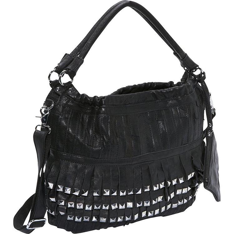Amerileather Studded Tutu Leather Handbag