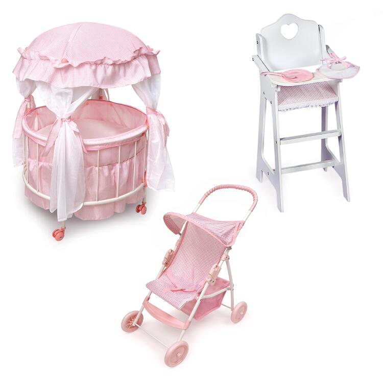 Badger Basket Royal Pavilion Doll Crib Furniture Set