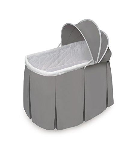 Badger Basket Cuddles Rocking Oval Doll Bassinet - Gray/White