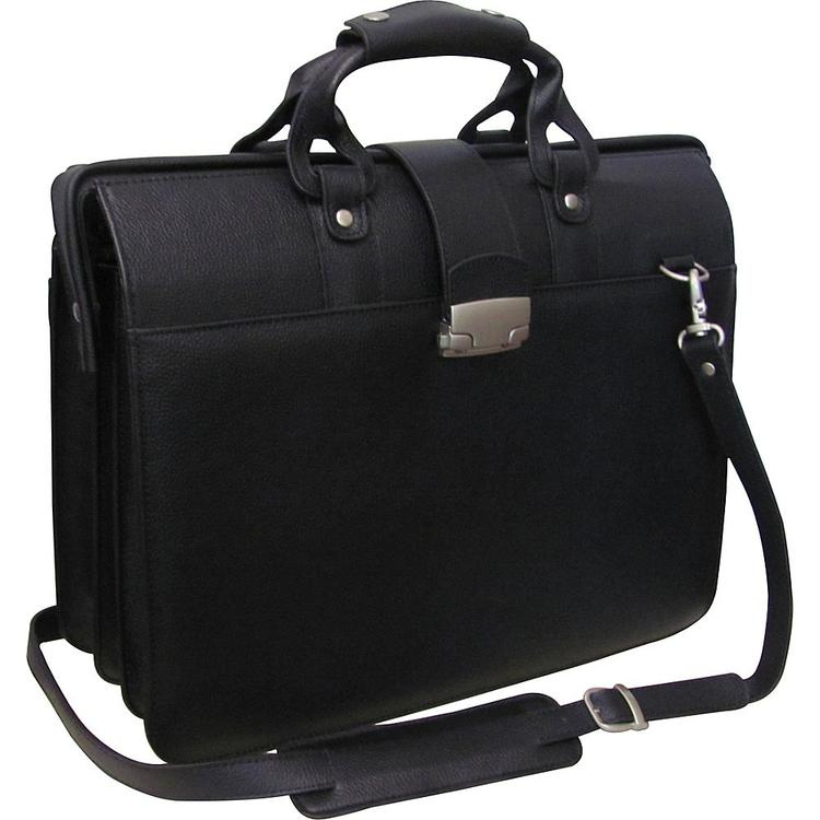 Amerileather Leather Doctor's Carriage Bag -Black