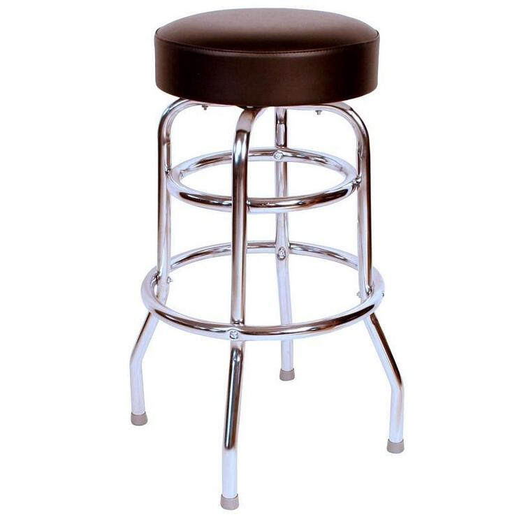 1952 Inspired Floridian Swivel Bar Stool, Color Black
