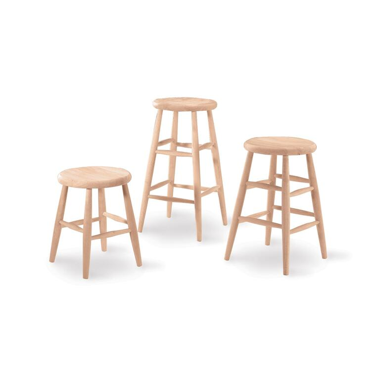 International Concepts Scooped Seat Stool