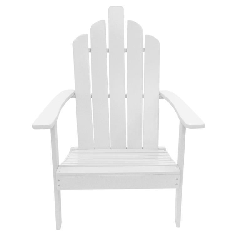 Westin Furniture Outdoor Patio Wood Adirondack Chair, White