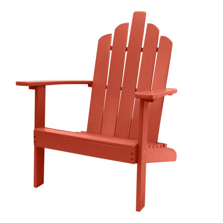 Westin Furniture Outdoor Patio Wood Adirondack Chair, Red