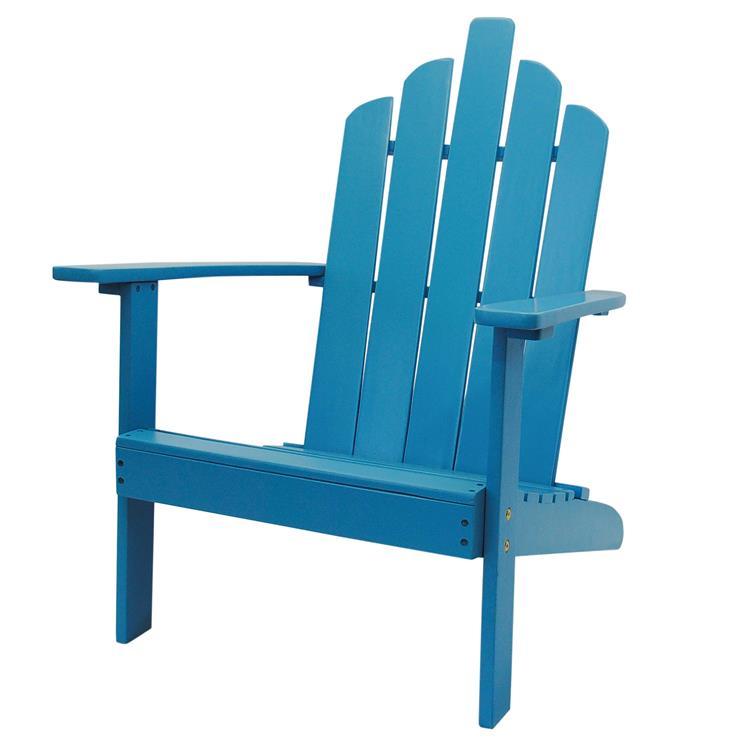 Westin Furniture Outdoor Patio Wood Adirondack Chair, Turquoise