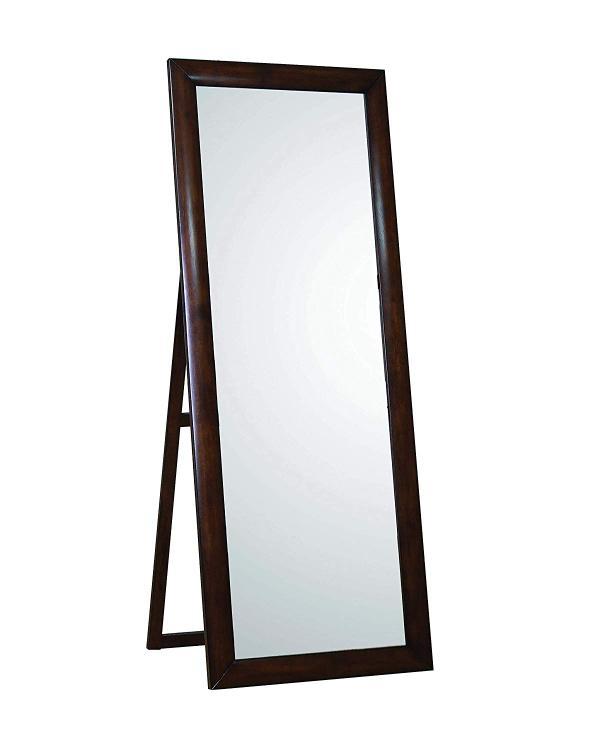 Coaster Home Hillary Warm Brown Standing Floor Mirror