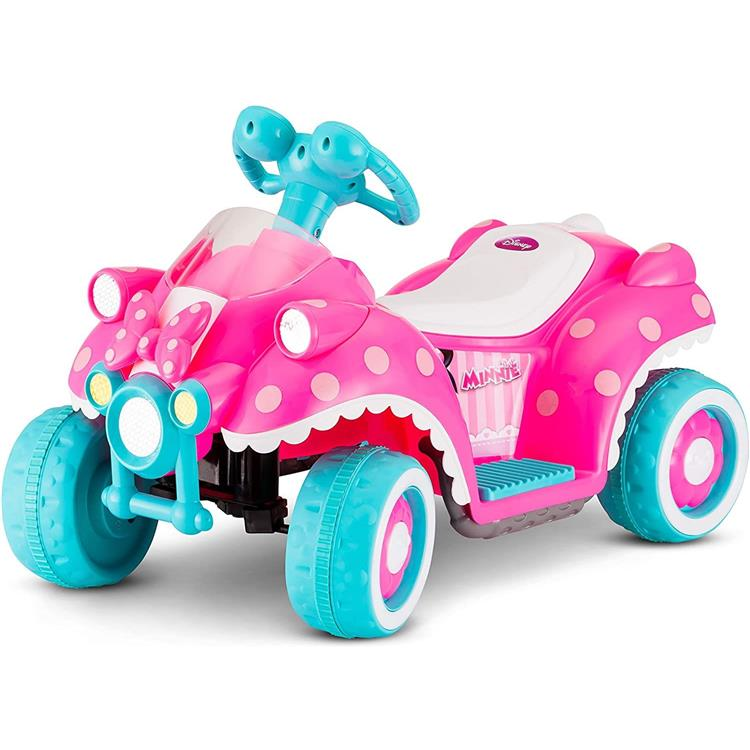 KidTrax Disney's Minnie Mouse Hot Rod Toddler Quad, 6-Volt Ride-On Toy