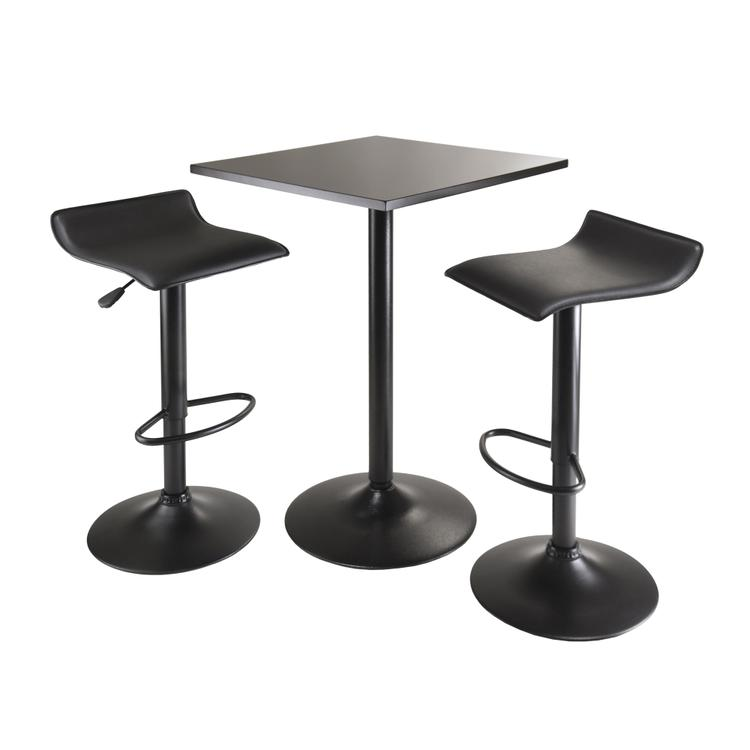 Winsome Wood Obsidian 3 Piece Table Set