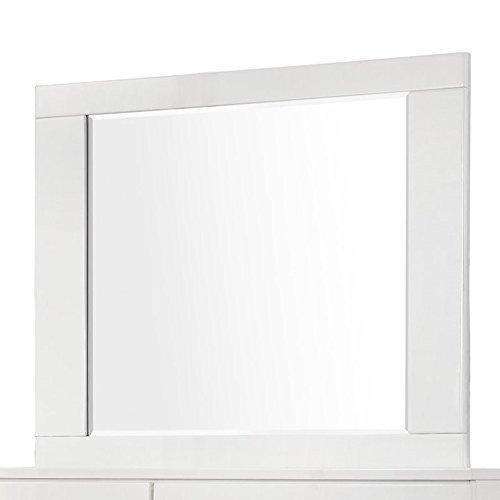 Coaster Felicity Glossy White Dresser Mirror