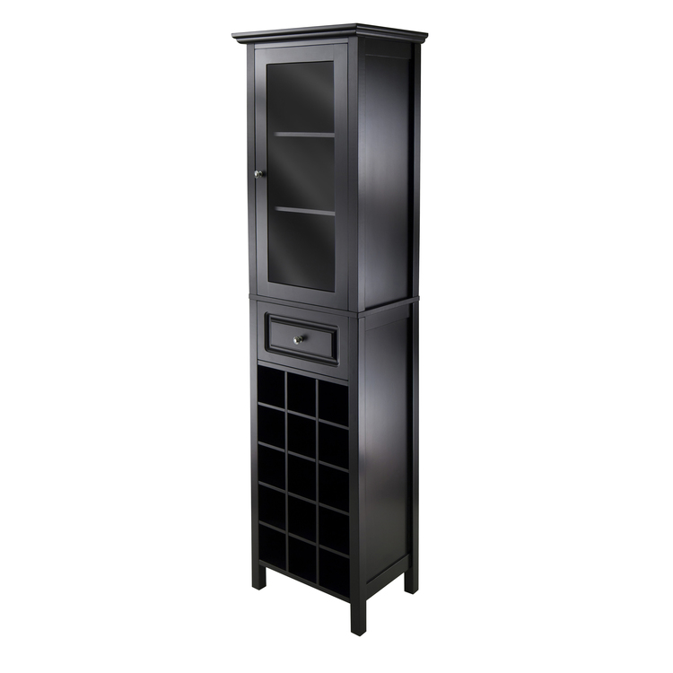 Winsome Wood Burgundy Wine Cabinet