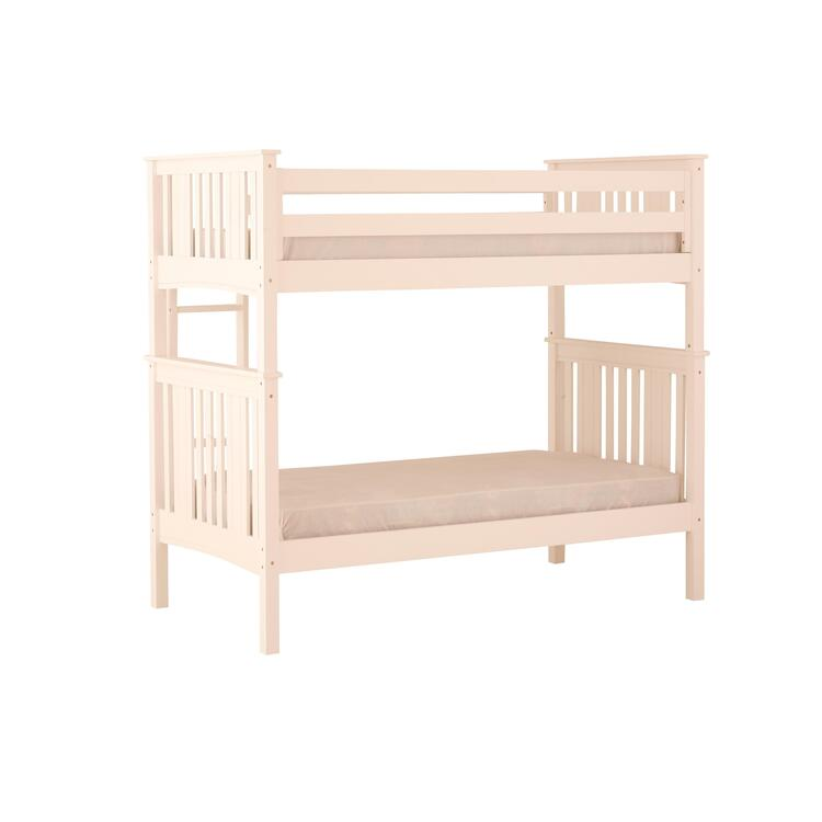 Canwood Base Camp Loft Bed With Angled Ladder White
